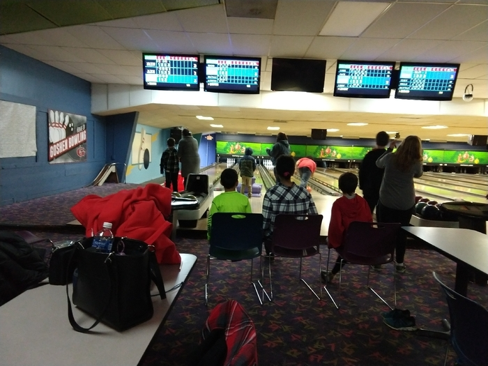 Our bowling field trip let's the fifth graders meet their future teachers and classmates. Interacting throughout the year makes transitions to sixth grade much easier.